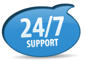 24 hour support and monitoring